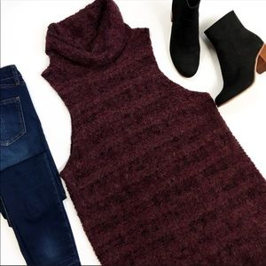 Free People Sleeveless Mock Neck Tunic Sweater